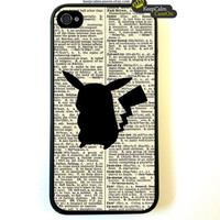 Iphone 4 Case Pokemon Pikachu On Dictionary Page by KeepCalmCaseOn