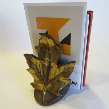 PMC Bronze Maple Leaf Bookend Marked Numbered