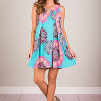 Positive Party Dress, Teal