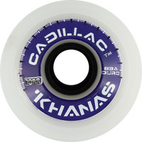 Cadillac Khana 70mm 83A White Longboard Wheels