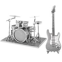 Metal Drum Set And Guitar Models