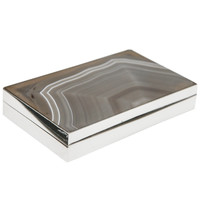 Agate & Sterling Box by Pierre Hugo