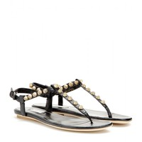 balenciaga - giant studded textured-leather sandals