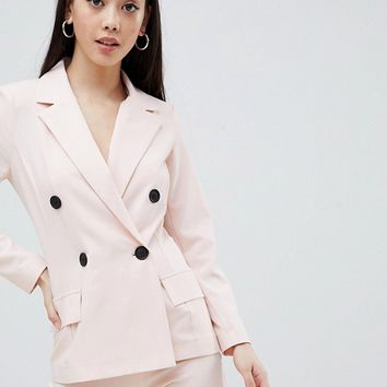 Missguided Petite Double Breasted Blazer at asos.com