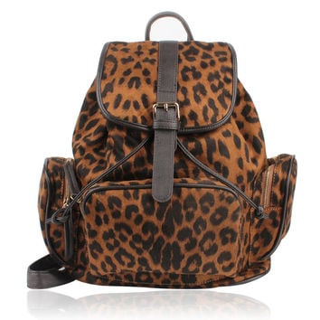 Backpack With Leopard Prints on Luulla