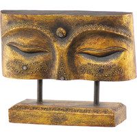 Eye of Buddha wooden plaque