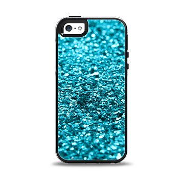 The Turquoise Glimmer Apple iPhone 5-5s Otterbox Symmetry Case Skin Set