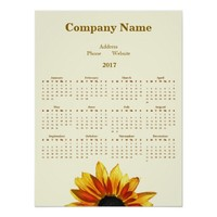 Sunflower Promotional Company 2017 Calendar Poster
