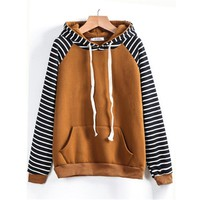 AILOOGE Stripe Hoodies Sweatshirt Kpop Women Sudaderas Mujer 2017 Moletom Tumblr Truien Dames Tracksuit Kawaii Pokemon go  AT_89_9