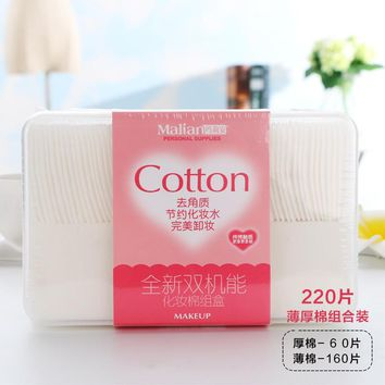 220pcs High Quality Cosmetic Cotton Pads Facial Cosmetics towels Makeup Pads Face & Nail Cleaning soft cotton Pads makeup Pads