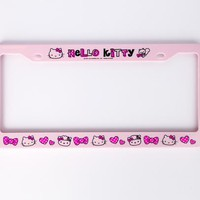 Hello Kitty License Plate Frame: Pink Bows