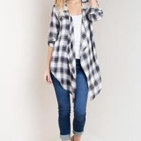 Plaid and Lace Cardigan