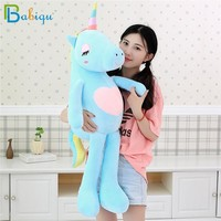 Babiqu 1pc 60cm Kawaii Rainbow Unicorn Plush Toys Stuffed Animal Horse Plush Doll for Children Kids Appease Toy Gift for Girls