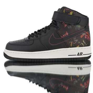 "[Free Shipping ]Nike Air Force 1'07 High ""Black Floral"" CI2304-001  Basketball  Shoes"