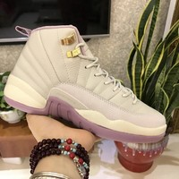 Air Jordan 12 GS Plum Fog 845028-025 Size 36-39
