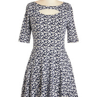ModCloth Vintage Inspired Short Sleeves A-line Bloom in a Cottage Dress
