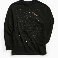 Embroidered Space Long Sleeve Tee | Urban Outfitters