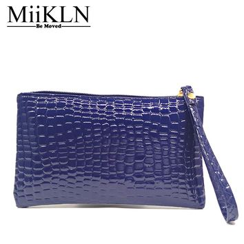 MiiKLN Women Wallet PU Leather Alligator Long Type Money Clip Big Capacity For Magic Ladies Wallet Female Money Bag