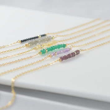 Birthstone necklace,gemstone necklace,bridesmaid jewelry