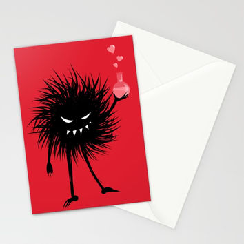 Evil Bug Made A Love Potion For You Stationery Cards by borianagiormova
