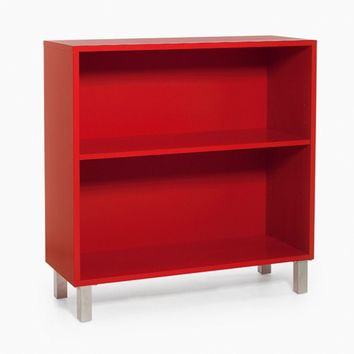 Sectional modular wood veneer shelving unit 2K-SKÅP by Karl Andersson & Söner design AlménGest Design