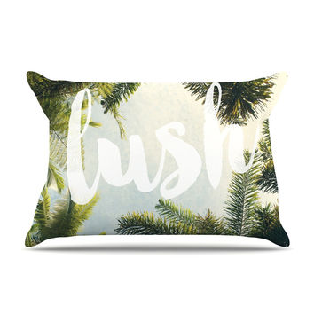 "Catherine McDonald ""Lush"" Nature Typography Pillow Case"