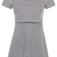 PETITE EXCLUSIVE Jacquard Overlay Dress - Monochrome