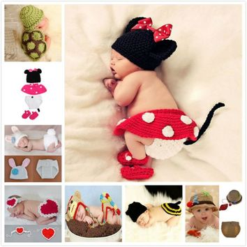 Animals hot infant mermaid costume, newborn hat, La Mariposa kids clothing sets, Snail baby crochet photography clothes