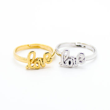 Love knuckle, midi ring