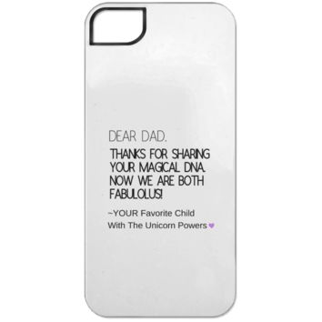 Funny Father's Day Gift For Dad From Wife, Daughter, Son, Stepdaughter, Stepson, Mom, Grandma, Mother In Law (9 dna unicorn dad iPhone 5 Tough Case)