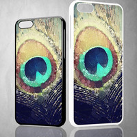 Peacock Feather V0216 iPhone 4S 5S 5C 6 6Plus, iPod 4 5, LG G2 G3 Nexus 4 5, Sony Z2 Case