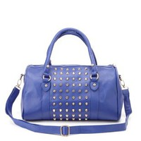 Cobalt Studded Cross-Body Satchel by Charlotte Russe
