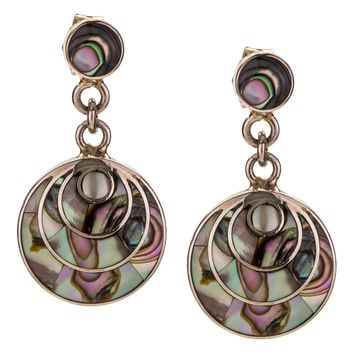 Abalone and Sterling Silver Drop Earrings