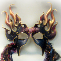 Night Fire Leather Mask (This item is reserved for Morganmorticia :)