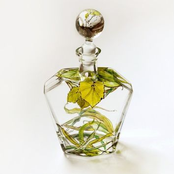 Botanical Decanter  Grass Roots & Botanical Collection by yevgenia