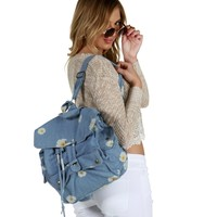 Sale-denim Daisy Backpack