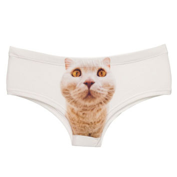 Perfect Pussy Cat 3D Image Panties