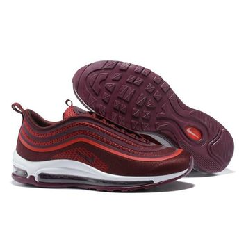 Nike Air Max 97 Ultra  17 Red White Wine Red