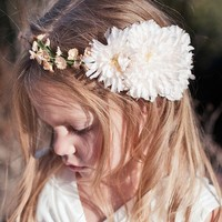 EDEN Flower Girl Halo by UntamedPetals on Etsy