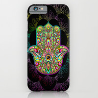 Hamsa Hand Amulet Psychedelic iPhone & iPod Case by BluedarkArt