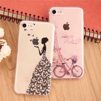 Shockproof flower Lace Premium TPU Back Case Cover For Apple iPhone 6s 7 Plus 5s