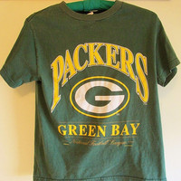 Vintage 90's Green Bay Packer Football Tshirt Sz XS Womens or Child's M