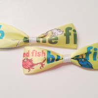 One fish, Two fish, Red fish, Blue fish Ribbon Bows (set of two)