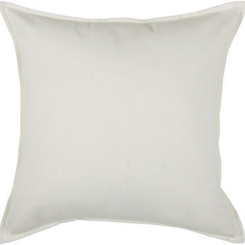 "Self Flange Detail Off White Pillow Cover (20"" x 20"")"