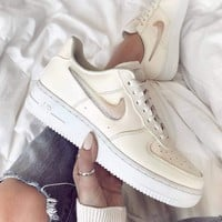 NIKE Air force1 07 Se Prm Goddess Candy Jelly Pudding Air Force Series Low Slipper Shoes