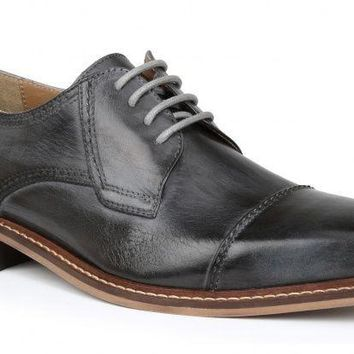 New Giorgio Brutini Men's Revenant Cap Toe Gray Shoes