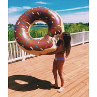 Pool Float- Chocolate Donut
