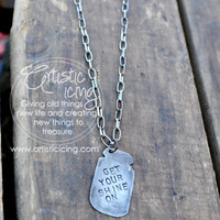 Get Your Shine On Mason Jar Handmade Necklace Moonshine