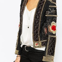 A Star Is Born Allover Luxe Embellished Trophy Jacket