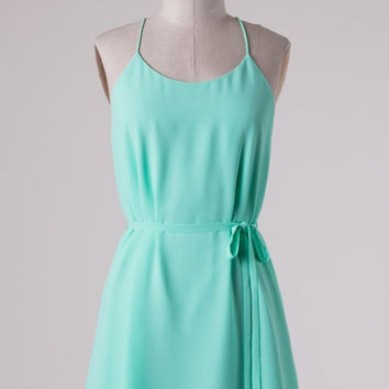 Mint Simplicity Dress with Racerback